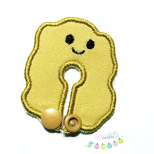 Feeding / G-Tube Cover Shaped Like Chicken Nugget, Yellow