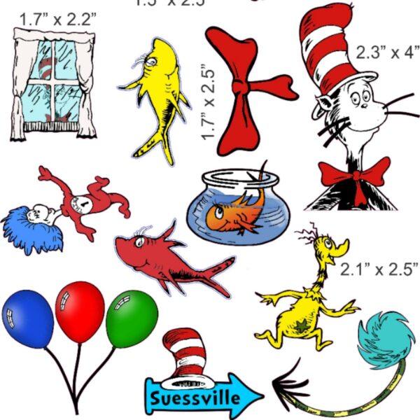 Dr. Seuss seizure helmet stickers