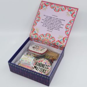 Box of Happy showing keepsake items