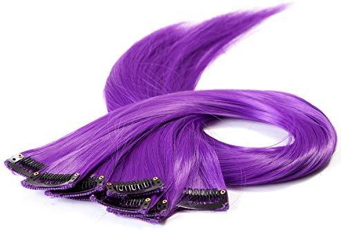 Purple hair extension