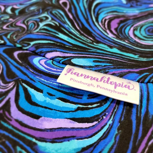 close-up picture of purple and blue swirl nillynoggin