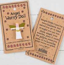 Miniature Angel Worry Doll